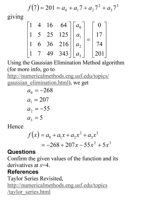 Taylor Series Exercise Method 3